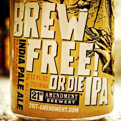 Обзор пива. 21st Amendment Brew Free or Die.