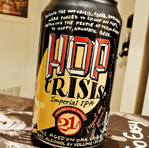 Обзор пива. 21st Amendment Hop Crisis.