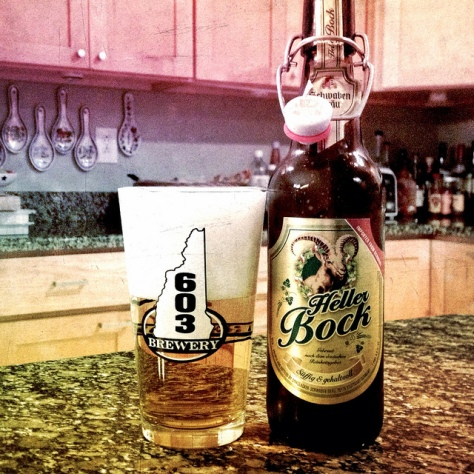 Обзор пива. Dinkelacker-Schwabenbraeu Heller Bock.