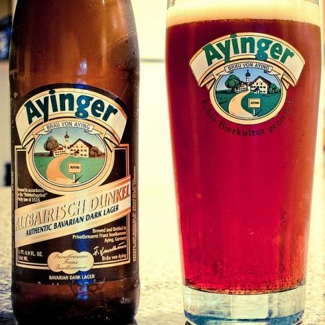 Обзор пива. Ayinger Altbairisch Dunkel.
