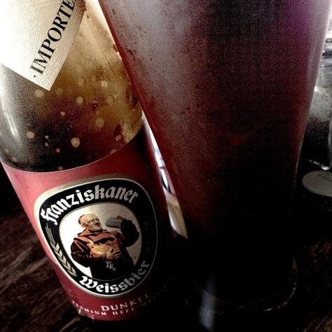 Мутное пиво. Franziskaner Hefe-Weisse Dunkel. Обзор пива.