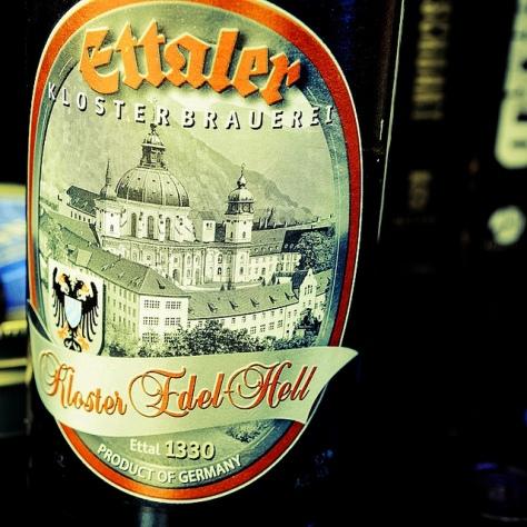 Обзор пива. Ettaler Kloster Edelhell.