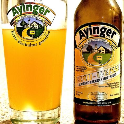 Обзор пива. Ayinger Bräu Weisse.