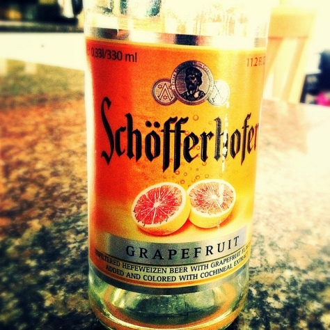 Обзор пива. Binding-Brauerei Schofferhofer Grapefruit Hefeweizen.
