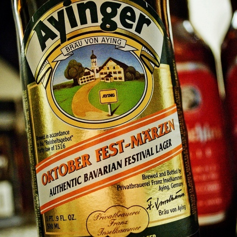 Мерцен. Märzen. Ayinger Oktober Fest-Märzen.