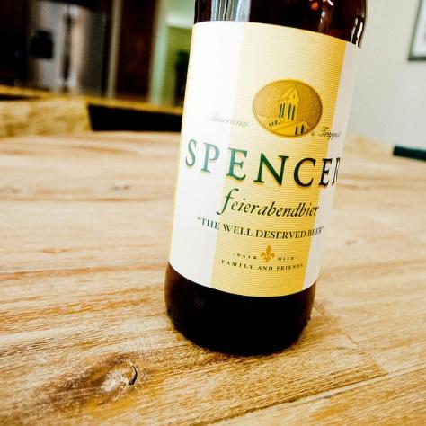 Американское траппистское пиво. Spencer Trappist Feierabendbier.