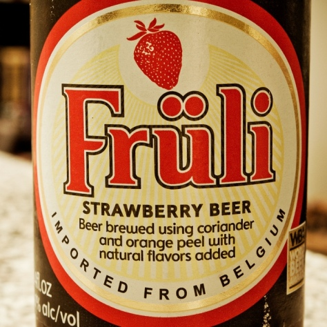 Обзор пива. Huyghe Früli Strawberry Beer.