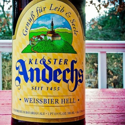 Обзор пива. Klosterbrauerei Andechs Weissbier Hell.