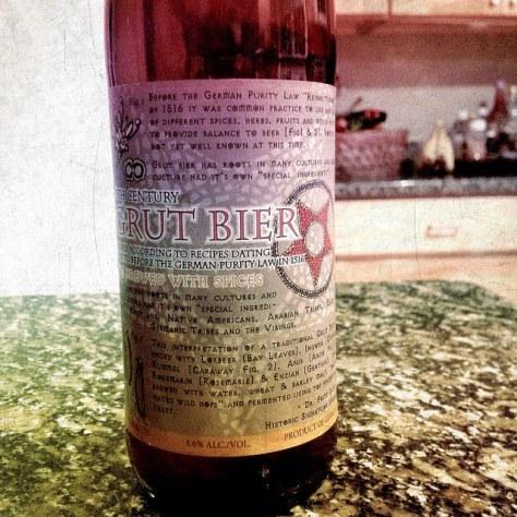 Травяное пиво. Грюйт. Schlossbrauerei Au Professor Fritz Briem 13th. Обзор пива.