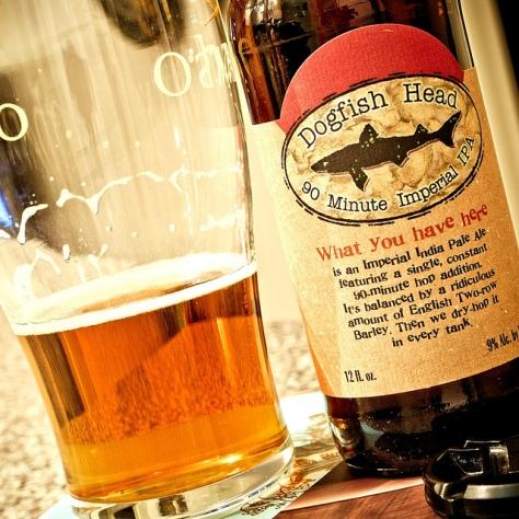 Хмель симко. Dogfish Head 90 Minute IPA. Обзор пива.
