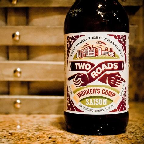 Обзор пива. Two Roads Worker's Comp Saison.