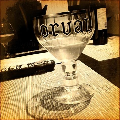 Правильное наливание пива. Orval.