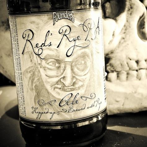 Травянистое ржаное пиво. Founders Red's Rye PA. Обзор пива.