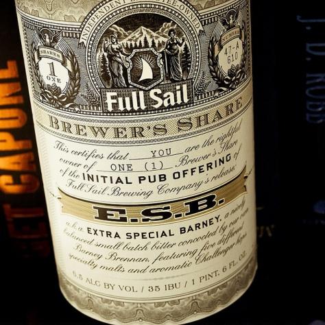 Full Sail E.S.B. / Extra Special Barney. [Обзор пива].