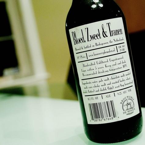 Обзор пива. De Molen Bloed, Zweet & Tranen.