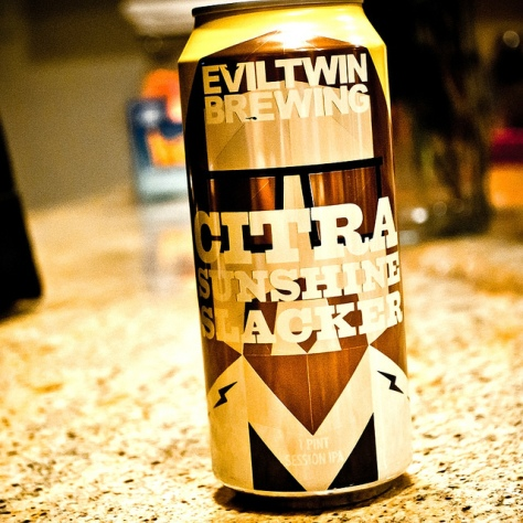 Обзор пива. Evil Twin Citra Sunshine Slacker.