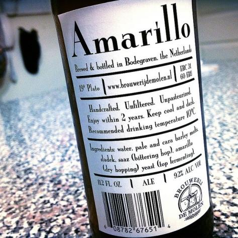 Обзор пива. De Molen Amarillo.