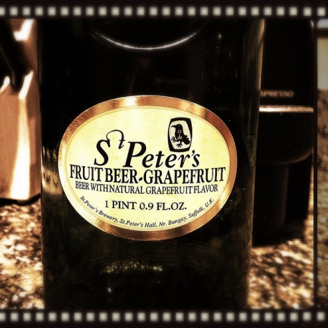Обзор пива. St. Peter's Fruit Beer Grapefruit.