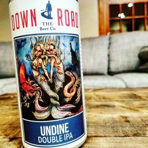 Обзор пива. Down the Road Undine Double IPA.