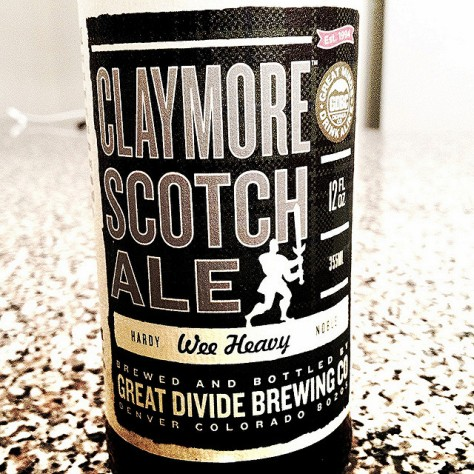 Обзор пива. Great Divide Claymore Scotch Ale.