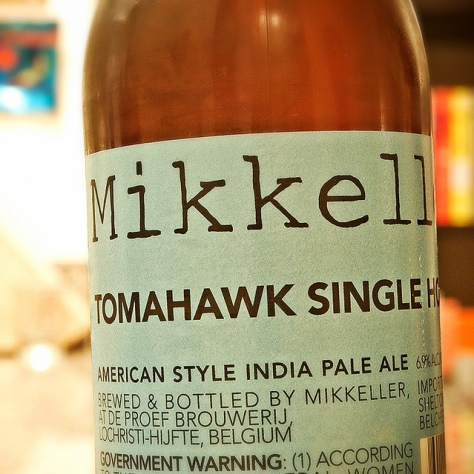Обзор пива. Mikkeller Tomahawk Single Hop IPA.