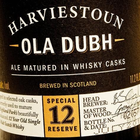 Обзор пива. Harviestoun Ola Dubh Special Reserve 12.