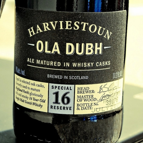 Старый эль. Описание сорта. Harviestoun Ola Dubh Special Reserve 16. Обзор пива.