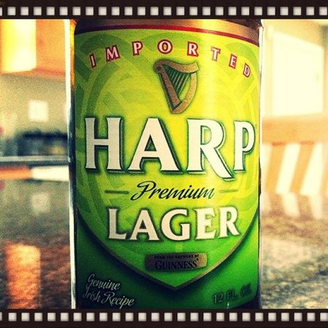 Обзор пива. Guinness Harp Lager.