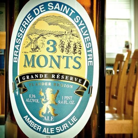 Обзор пива. Saint-Sylvestre 3 Monts Amber Ale Sur Lie.