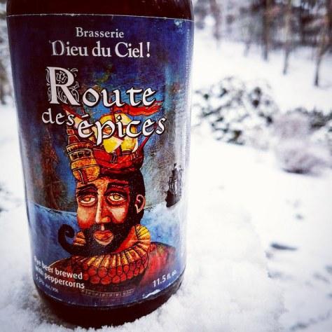 Ржаное пиво. Dieu du Ciel Route Des Épices. Обзор пива.