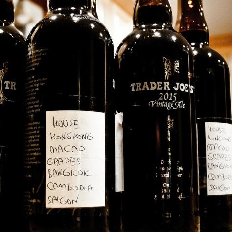 Unibroue Trader Joe's Vintage Ale. 2015-2017.