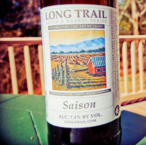 Обзор пива. Long Trail Saison (Brush & Barrel Series).