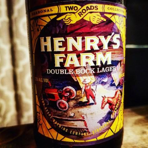 Обзор пива. Two Roads Henry's Farm Double Bock.