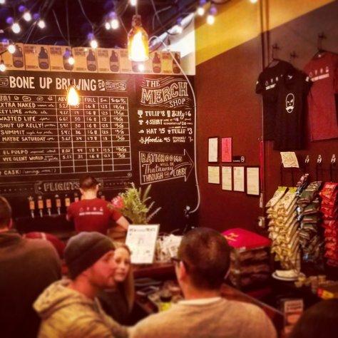 Крафтовая пивоварня. Bone Up Brewery.