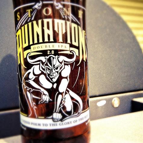 Правильная температура сервирования пива. IPA. Stone Ruination 2.0.