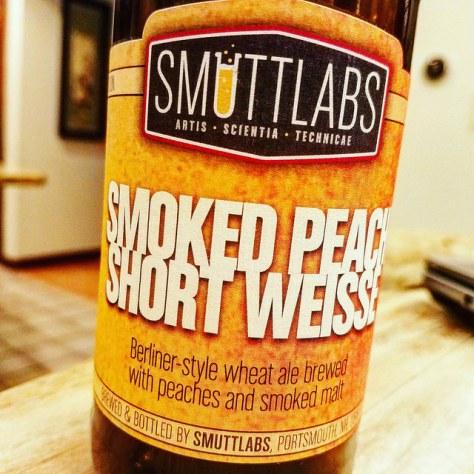 Smuttynose Smuttlabs Smoked Peach Short Weisse. [Обзор пива].