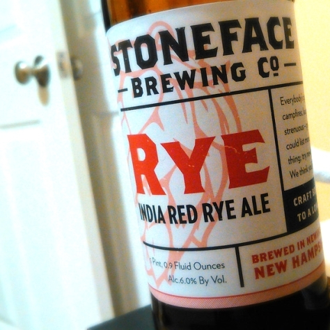 Обзор пива. Stoneface India Red Rye Ale.