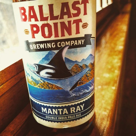 Обзор пива. Ballast Point Manta Ray DIPA.