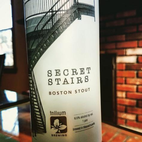 Виды стаутов. Trillium Secret Stairs. Обзор пива.