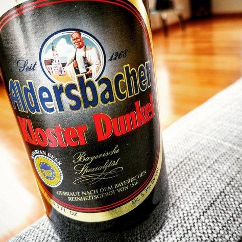 Обзор пива. Aldersbacher Kloster Weisse Dunkel.
