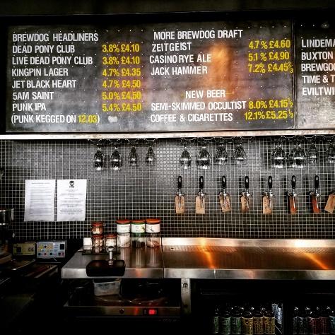 Крафтовая пивоварня. Brewdog Castlegate.