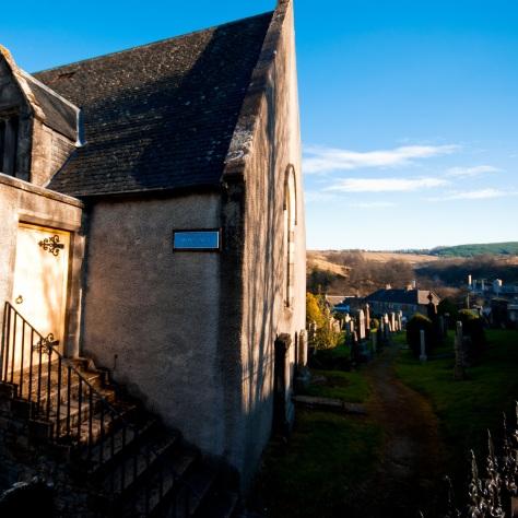 Столица мира виски. Город Даффтон. [Dufftown]. Шотландия. [2017 год]. Mortlach church. Церковь Мортлах.