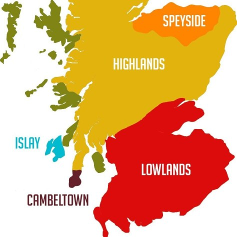 Виски с острова Айла [Islay]. Шотландия. Карта.