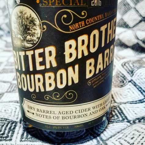 Обзор крепкого сидра. North Country Bitter Brother's Bourbon Barrel.