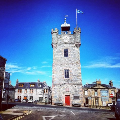Столица мира виски. Город Даффтон. [Dufftown]. Шотландия. [2017 год]. Clock tower.