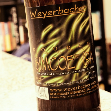Weyerbacher Double Simcoe IPA. [Обзор пива].