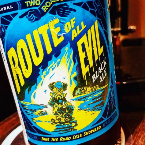 Обзор пива. Two Roads Route Of All Evil Black Ale.