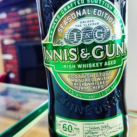 Обзор пива. Innis & Gunn Irish Whiskey Aged Scottish Stout.
