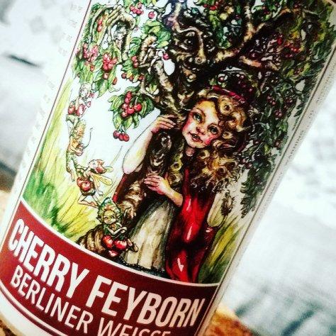 Обзор пива. Down the Road Cherry Feyborn Berliner Weisse.
