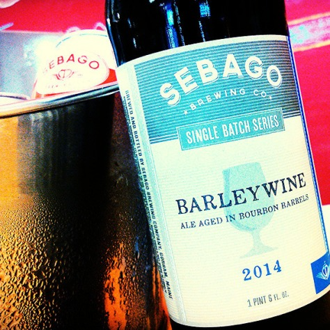 Обзор пива. Sebago Single Bourbon Barrel Aged Barleywine 2014.